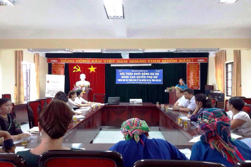"Project launch conference: ""Improving women rights through bettering economic conditions in Sapa District, Lao Cai Province"""
