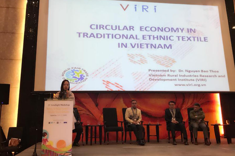 "VIRI joined the Innosight Workshop on ""Nature to Value toward a Circular Textile Industry""."