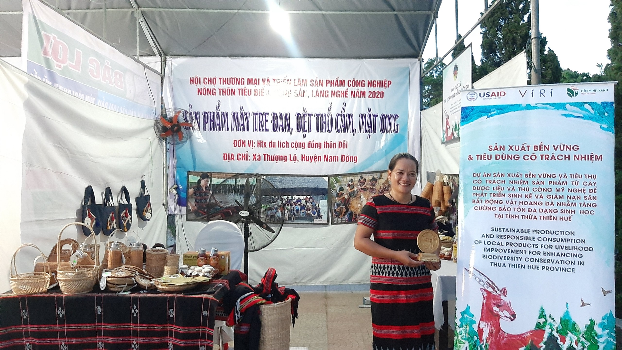 Doi Village Tourism Cooperative attended Huong Thuy town Fair.