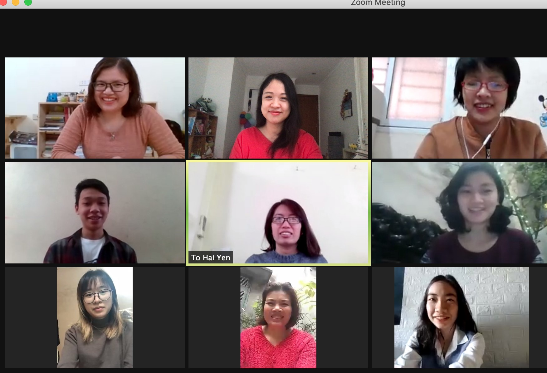 First meeting in the early year via Zoom